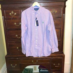 Ralph Lauren Purple Gingham Button Down Large